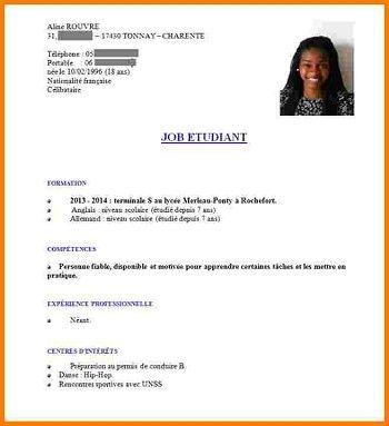 Exemple D Cv Etudiant Cv Etudiant Cv Job Etudiant Modele Cv Etudiant