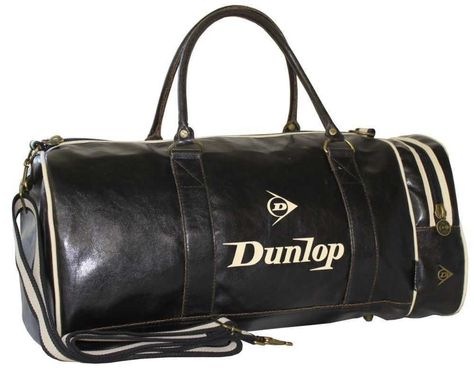 Dunlop Retro Gym Holdall Sports Weekend Barrel Shoulder Bag Black   Amazon.co.uk  Clothing 412755ffdc39f