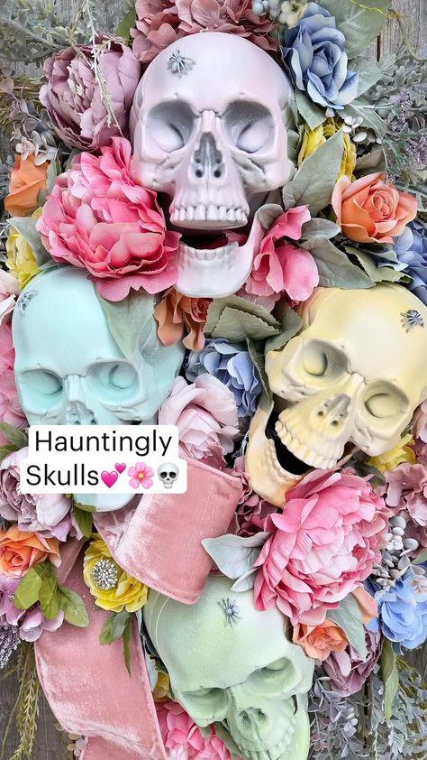 Hauntingly Pastels  Skulls💕🌸💀