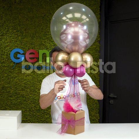 Balloon Crafts, Birthday Balloon Decorations, Balloon Gift, Birthday Balloons, Birthday Party Decorations, Balloon Surprise, Balloon Arrangements, Balloon Centerpieces, Diy Party Centerpieces