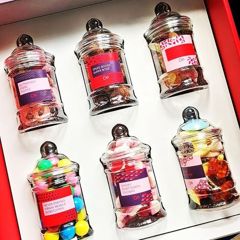 "Dan Grabham on Instagram: ""A sweet-tastic selection from @virginmedia - fuel for the next @pocketlintcom team day! 😊 . . . . . . . #sweets #jars #sweetjars…"""