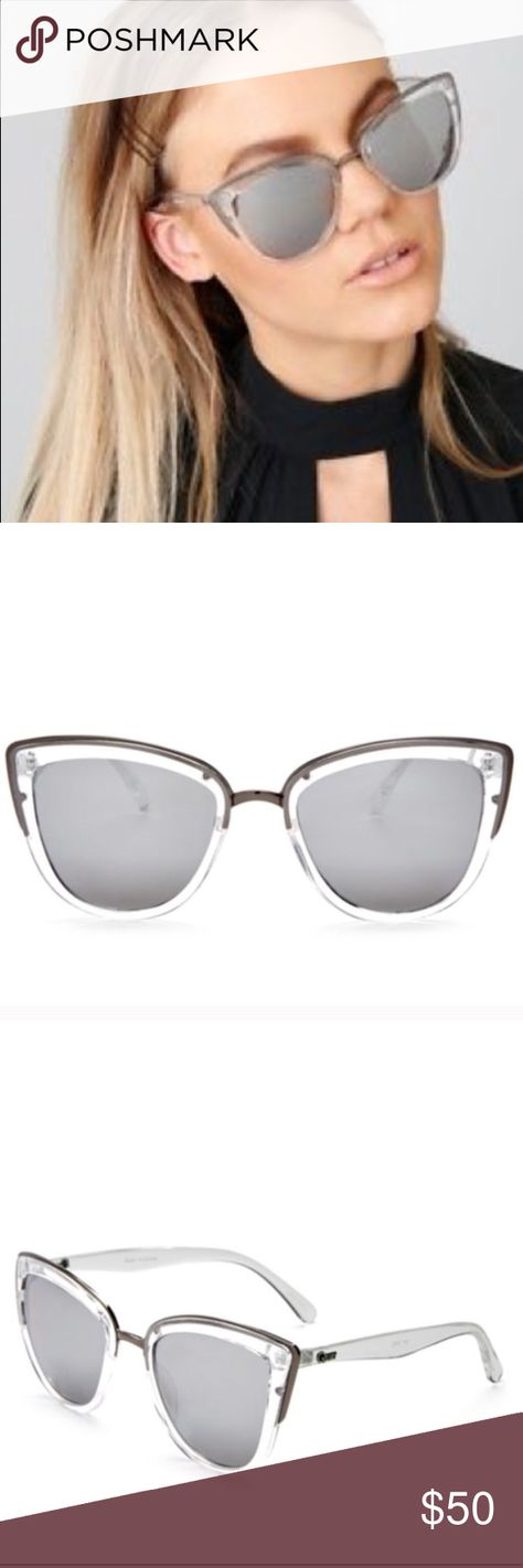 4ea54e2ed8f Quay My Girl Clear Sunglasses Mirrored Lense NWOT. Does not include case.  Clear My