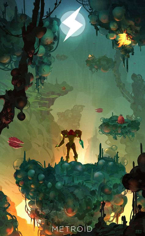 Super Metroid: Enter Norfair - Created by SpiridtPrints available for sale at…