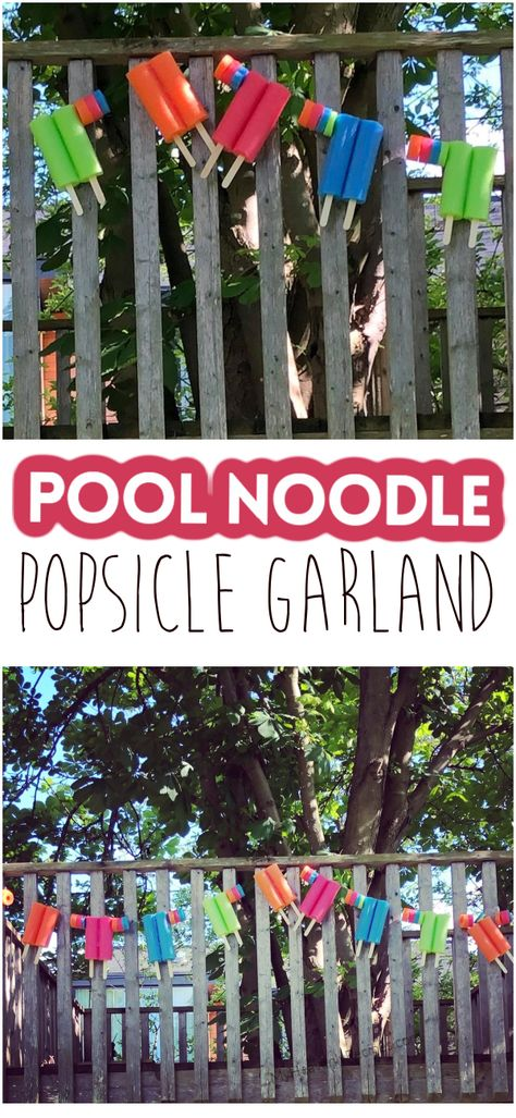 Dollar Tree Pool Noodle Popsicle Garland