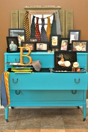 Mustache and tie themed baby boy baby shower
