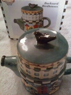 BIRD HOUSE TEAPOT in mylyon's Garage Sale Feasterville, PA for $20.00. SELLING A BIRD HOUSE TEAPOT, NEW IN THE BOX. THE BOX ITSELF HAS SOME WEAR FROM SITTING. BUT THE CONTENTS INSIDE IS BRAND NEW STILL IN THE BUBBLE RAP. THIS IS A GREAT HAND PAINTED COLLECTABLE PIECE.