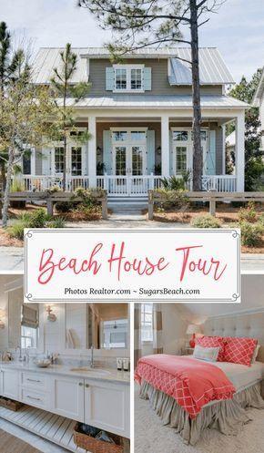 Beach House Decor Inspiration Sugarsbeach Com Awesome Beach House Decorating Ideas And Beach Inspired Beach House Tour Beach House Decor Beach Cottage Style