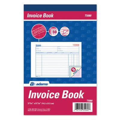 Adams Business Forms 3 Part Carbonless Invoice Book (Set of 10 - book invoice