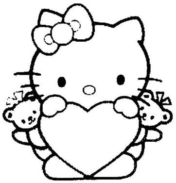 Print Download Coloring Pages For Girls Recommend A Hobby To A Child Hello Kitty Coloring Kitty Coloring Hello Kitty Colouring Pages
