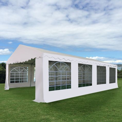16 2 5 X 26 Wedding Tent Shelter Heavy Duty Outdoor Party Canopy Carport White Homeideas Party Canopy Patio Canopy Canopy Architecture