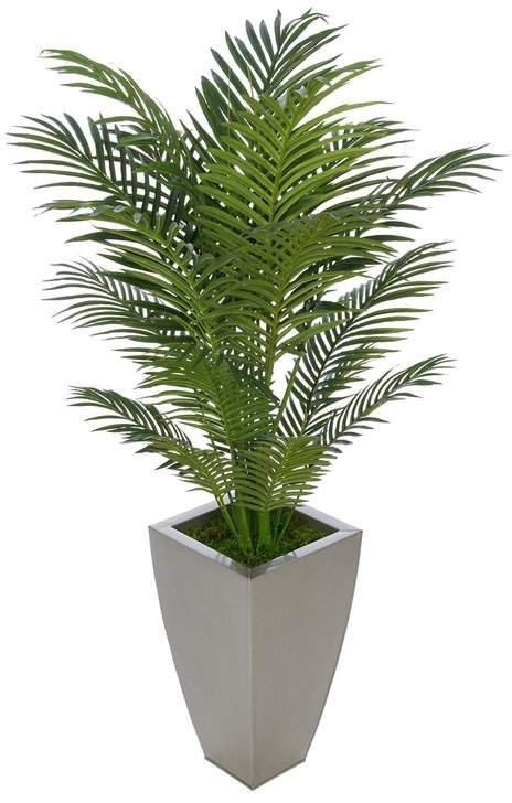 36 Artificial Palm Tree On Decorative Vase Indoor Bamboo Plant Palm Plant House Plants Decor