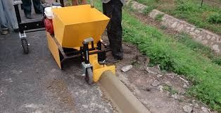 Curb Machine In 2020 Concrete Paving Paving Contractors Concrete Curbing