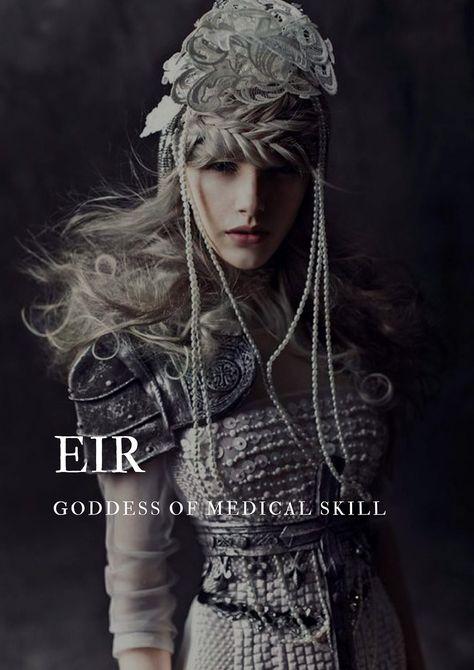 "apeollo: "" norse mythology → eir ""norse goddess of medical skills "" "" Greek Mythology Gods, Norse Goddess, Norse Mythology, Gods And Goddesses, Norse Pagan, Female Character Names, Female Names, Female Fantasy Names, Cool Fantasy Names"