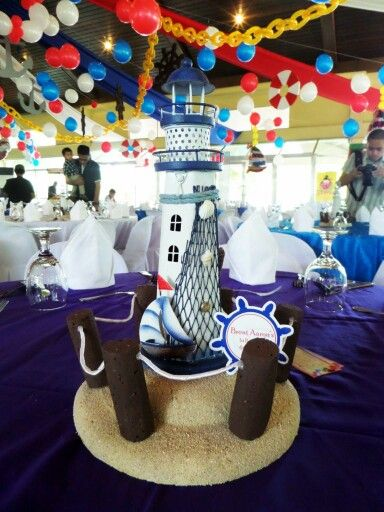 Captivating Lighthouse Table Centerpiece | Party Decor By J U0026 J Balloon Corner |  Pinterest | Centerpieces, Table Centerpieces And Lighthouses