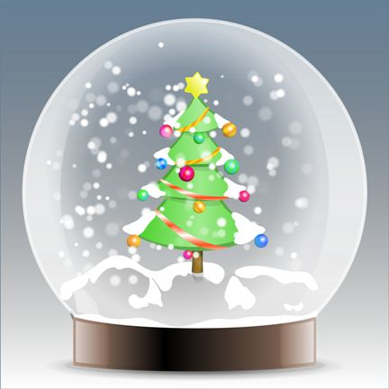 Globi Natalizi Animati Con Neve Alberi Rustici Di Natale Globi