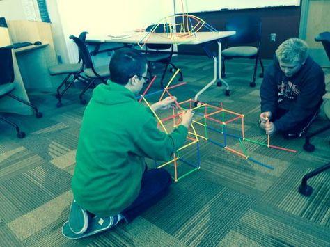 """Sammy & Noah enjoy #makerspace time on a beautiful Jan afternoon. #iatl #tlchat"""