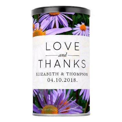 Thank You Aster Flowers Blossoms Purple Hot Chocolate Drink Mix Purple Floral Style Gifts Flower Flowers Diy Customize Uni Purple Floral Style Perso