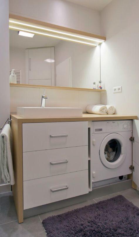 Washing machine in bathroom