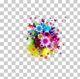 Color Flower Abstract Art Floral Design Png Clipart Art Background Vector Color Smoke Color Splash Abstract Flower Art Floral Art Drawing Illustration