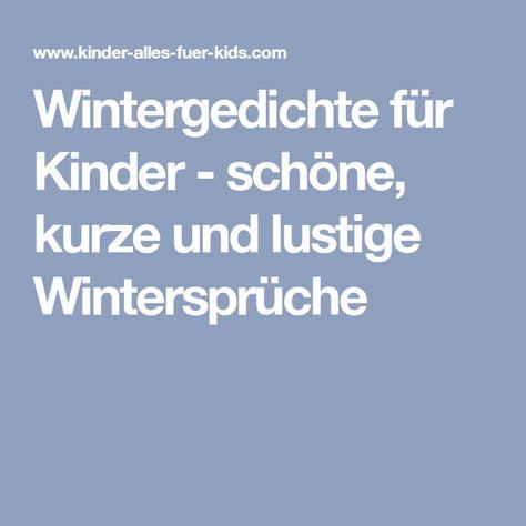 Wintergedichte Für Kinder Schöne Kurze Und Lustige