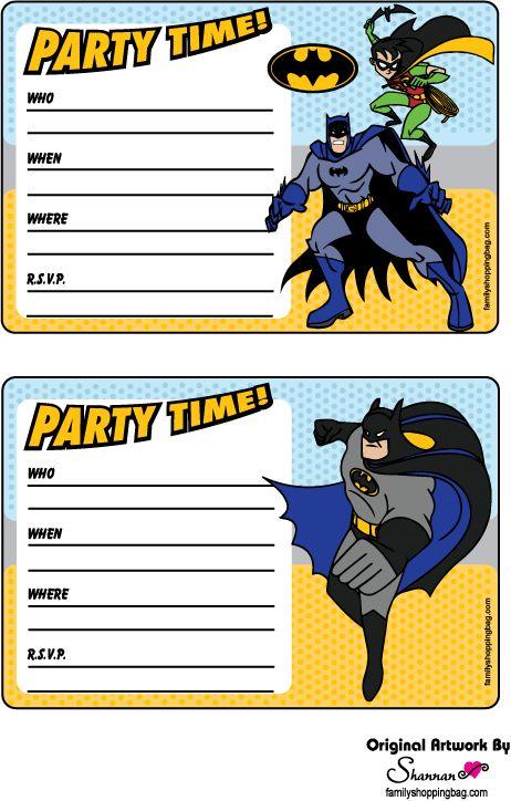 Batman free printable invitations party ideas pinterest free batman free printable invitations party ideas pinterest free printable invitations free printable and batman stopboris Image collections