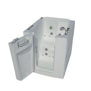 Universal Tubs Hd Series 38 In Right Swinging Door Walk In Whirlpool And Air Bath Tub With Right Swinging Door In White Hd3238rwd The Home Depot Walk In Tub Shower Bathtub Shower