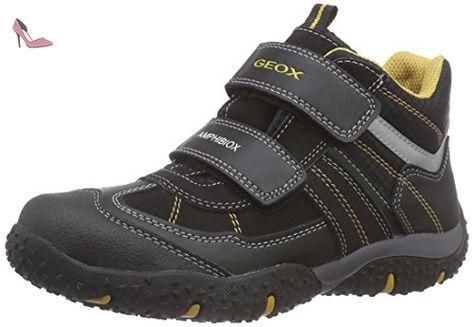 Geox Argonat C, Sneakers Hautes Garçon, Schwarz (Black/REDC0048), 33 EU