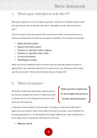 How To Write A Translator S Cv How To Make Resume Writing A