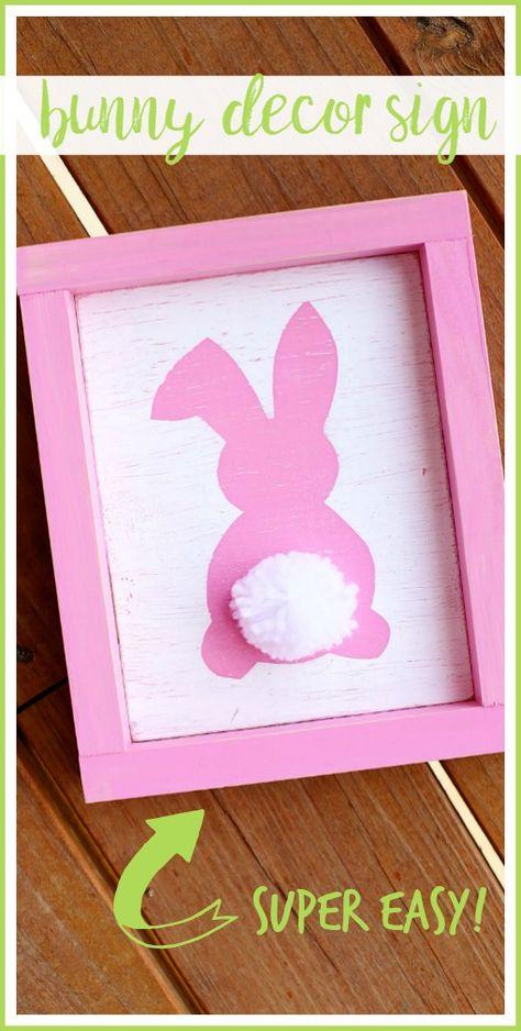 Bunny Decor Sign