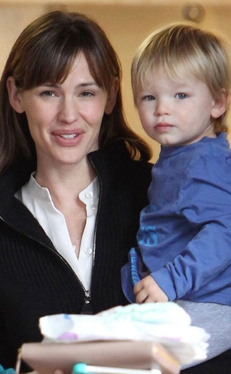 Third time mom Jennifer Garner with son Samuel Garner Affleck born 02/27/2012