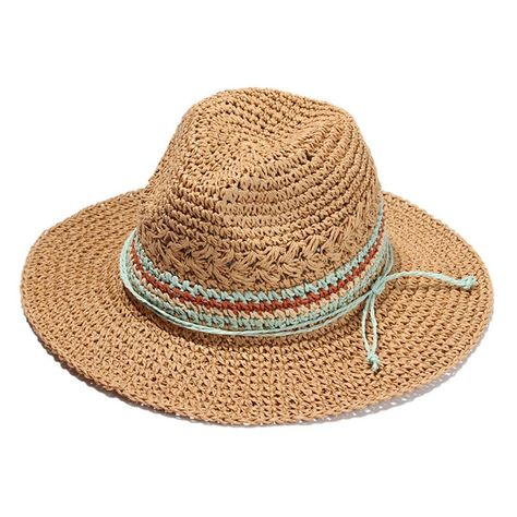 e32e0d03 Women Wide Brim Novelties Straw Skimmer Hat Roll up Hat Fedora Summer Beach Sun  Hat (Brown)