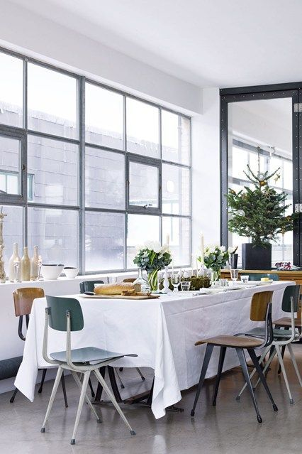 Christmas Table Ideas Green White Natural Houseandgarden Co Uk Simple Christmas Decor Dining Room Table Centerpieces Christmas Decorations For The Home