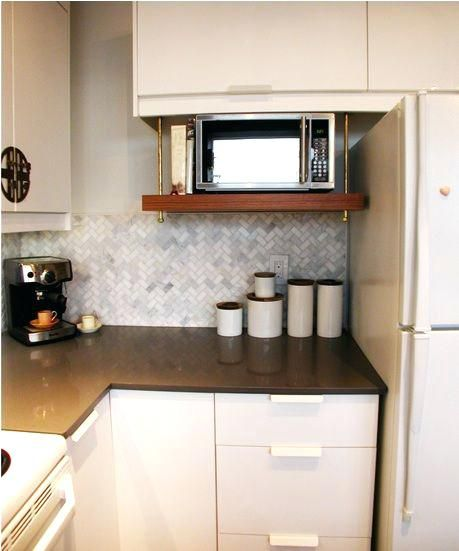 Under Cabinet Microwave Mounting Kit Home Depot Hanging Shelf For Interiors As Seen On Kitchen Interior Microwave Shelf Microwave In Kitchen