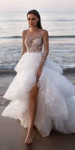Wedding Dresses Spring 2020: Trends You Need To See ★ wedding dresses spring 2020 ball gown one shoulder sequins ruffled skirt millanova