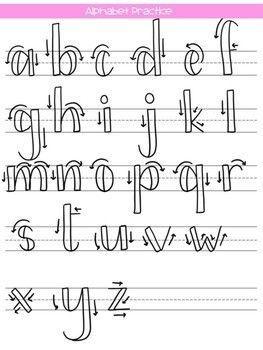 Abecedario Lettering Tipos De Letras Abecedario Plantillas De