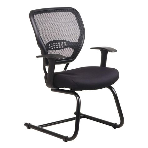 Office Star Products Black Airgrid Back Visitor Office Chair 5505