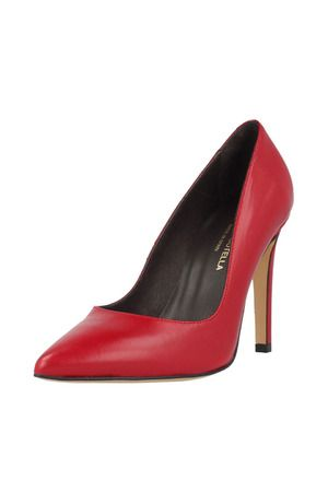Roberto Botella Pump Shoe With Pointed Toe In Leather In Red Pump Shoes Shoes Stiletto Heels