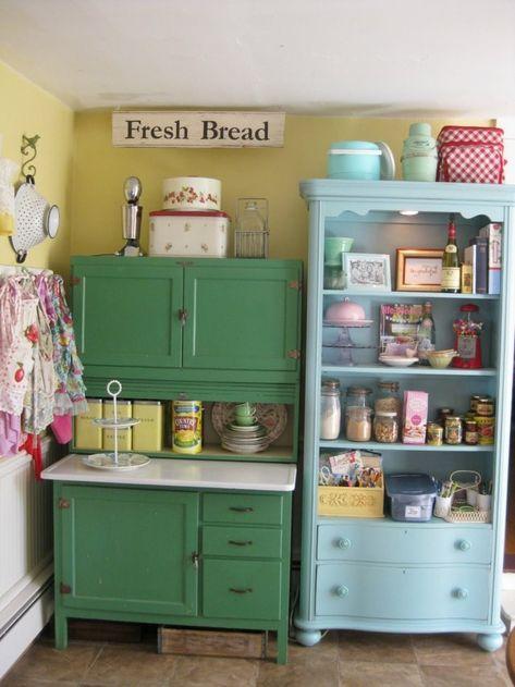 Vintage: estilo retro clásico en la cocina   Muebles de ...