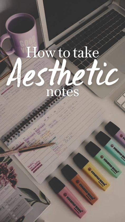 How to take Aesthetic Notes