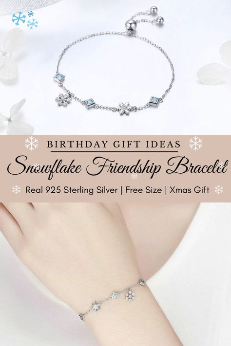 925 SILVER Plated Bracelet For BEST FRIEND BLUE XMAS BIRTHDAY Gift JEWELLERY