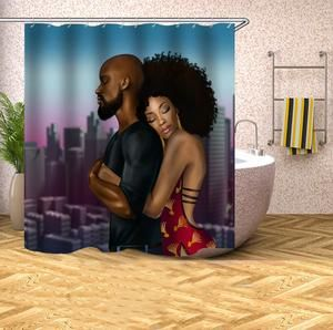African American Woman Man Bathroom Shower Curtain Bathroom Shower Curtains Man Bathroom Bathroom Curtains