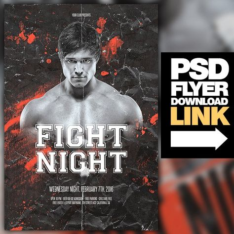 MMA \/ Fight Night \/ Boxing Fight Flyer \/ UFC Boxing fight and - ufc flyer template