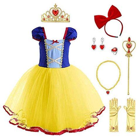 Vestito Cerimonia 8 Anni.Ragazza Biancaneve Principessa Costume Un Ballo In Maschera