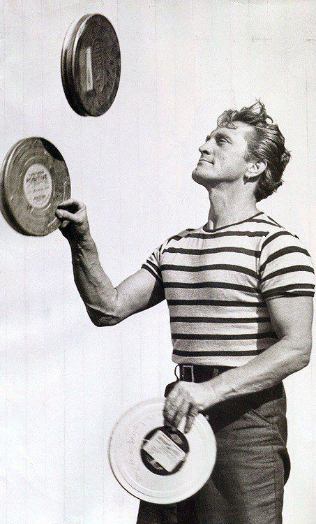 """Kirk Douglas, probably during the production of """"20,000 Leagues Under the Sea"""""""
