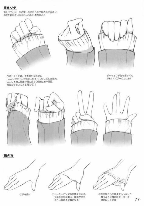 How To Draw Anime Girl Hands : anime, hands, Drawing, Anime, Character, Design, Ideas, Hands,, Poses,, Bodies