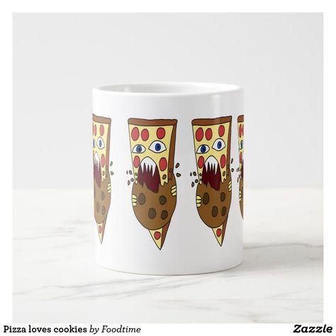Pizza loves cookies giant coffee mug