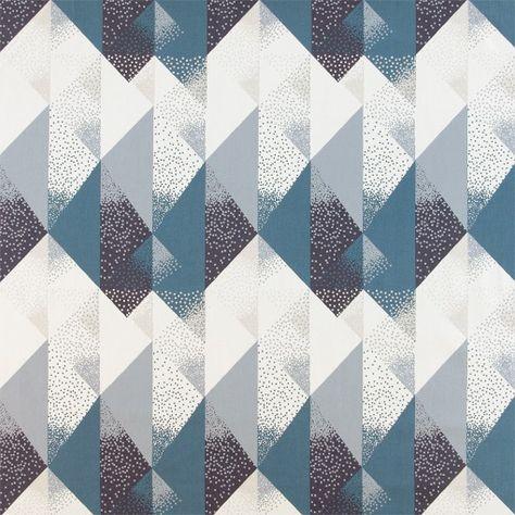 Baumwolle Weiss Mit Blau Sand Punkten Stoff Stil Stoff Und