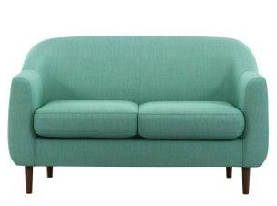 Tubby 2 Seater Sofa Soft Teal In 2020 2 Seater Sofa Seater Sofa Sofa