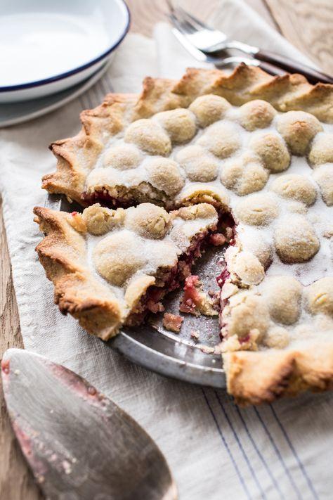Bumpy Cherry and Almond Pie