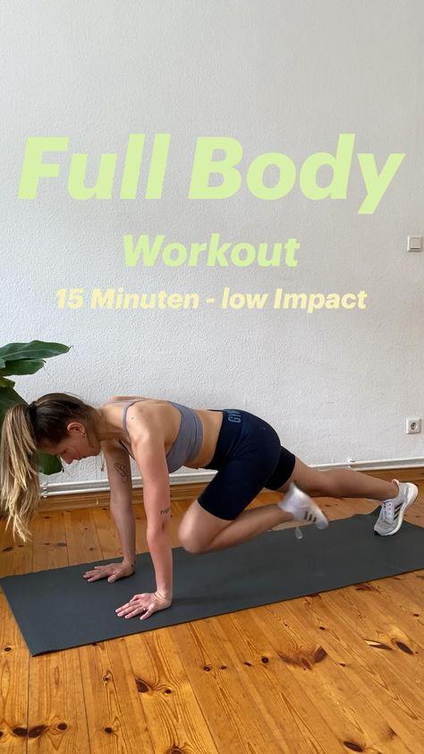 Full Body Workout - 15 Minuten Training für den ganzen Körper ohne Sprünge - gelenkschonend